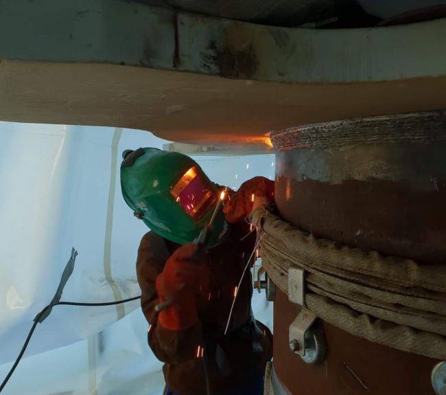 Offshore welding TP Topside